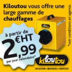 KILOUTOU, loueur de matériel pour les entreprises du BTP, de l'industrie et des collectivités présente sa GAMME DE CHAUFFAGE ! Batiweb