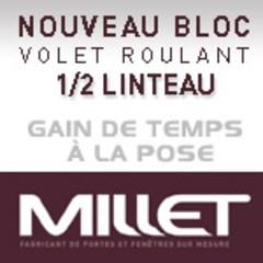 LE NOUVEAU BLOC VOLET ROULANT MILLET POUR ½ LINTEAUX