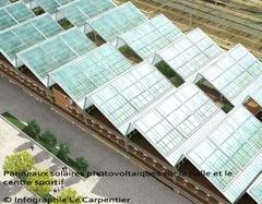 Début des travaux de la plus grande centrale solaire urbaine en 2010