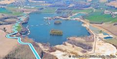 Granulats Vicat recrée le lit mineur d'une rivière et reçoit un Grand Prix