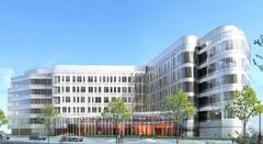 La première pierre du futur siège social d'Eiffage Construction posée Batiweb