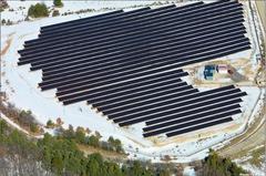 Inauguration d'une des premières centrales solaires au sol de France
