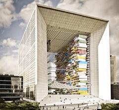 L'Arche de La Défense colonisée par des logements modulaires Batiweb