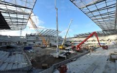 Grand Stade du Havre : le gros œuvre est achevé - Batiweb