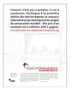 Première edition des Holcim Awards  - Batiweb