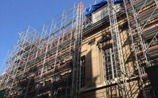 1000 tonnes d'échafaudage pour la rénovation d'un site BNF