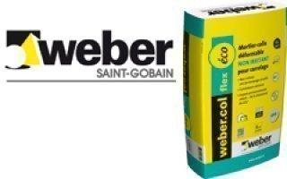 Weber Lance Le Premier Mortier Colle Déformable Non Irritant