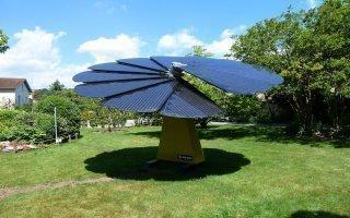 La SmartFlower déploie ses pétales photovoltaïques sous le soleil lyonnais - Batiweb