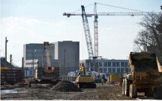 Une centrale à béton mobile sur le chantier du métro de Rennes