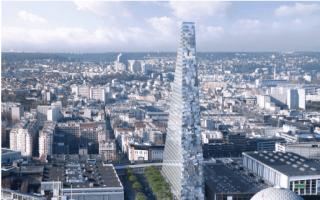 La tour Triangle dans sa version 2 approuvée Batiweb