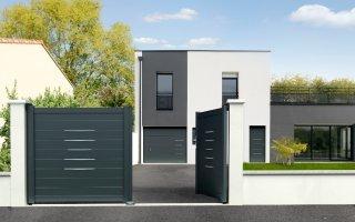 La porte de garage sectionnelle Alinéa de Novoferm Batiweb
