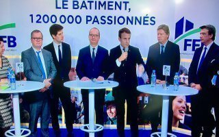 Le président Macron démine le terrain pendant les 24 heures du bâtiment de la FFB Batiweb