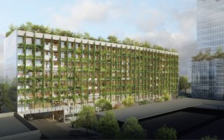Focus sur Le Thémis, premier bâtiment tertiaire E+C- - Batiweb