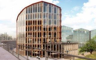 Un immeuble mêlant bois et béton pour les futurs locaux de l'URSSAF - Batiweb