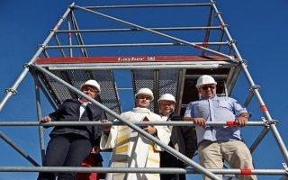Layher fournit 72 tonnes d'échafaudage pour la réhabilitation d'un clocher