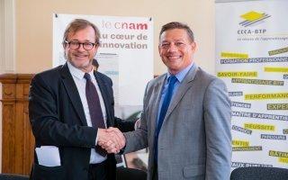 Un nouveau partenariat entre le CCCA-BTP et le Cnam en faveur de l'apprentissage dans le BTP