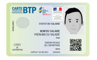 Près de 1,3 million de cartes d'identification professionnelles du BTP délivrées Batiweb