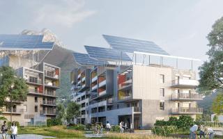 Top départ pour le chantier de construction du premier bâtiment autonome de France