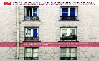 « Désordres dans le bâtiment », thème de la 14e édition du concours photo AQC Batiweb
