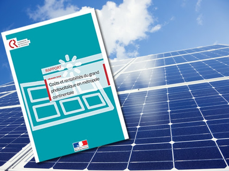 La Commission de régulation de l'énergie vante la compétitivité du solaire français