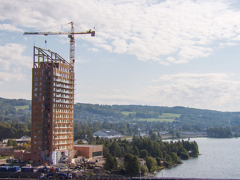 La Mjøstårnet, plus haute tour en bois du monde, enfin inaugurée