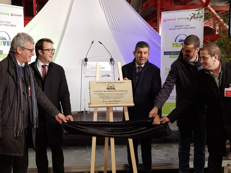 Déchets de chantier : Veolia, Envie et Legendre ont inauguré la 1ère unité de tri de Bretagne - Batiweb