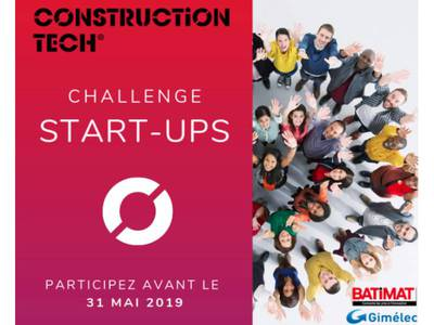 Batimat et le Gimélec lance le 2e Challenge Start-Ups Construction Tech Batiweb