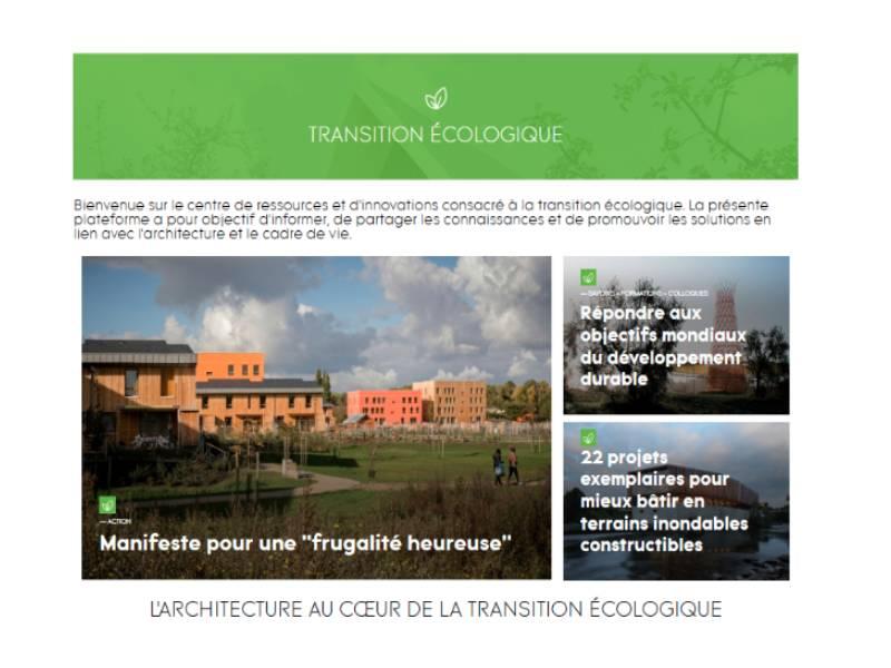 L'Ordre des architectes lance un centre de ressources consacré à la transition écologique
