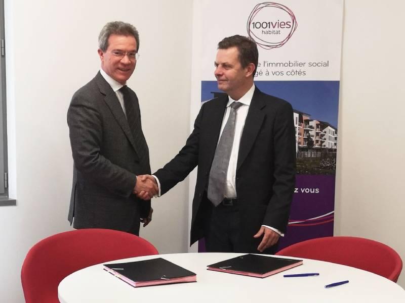 Partenariat entre 1001 Vies Habitat et le CSTB pour une gestion du patrimoine par le BIM