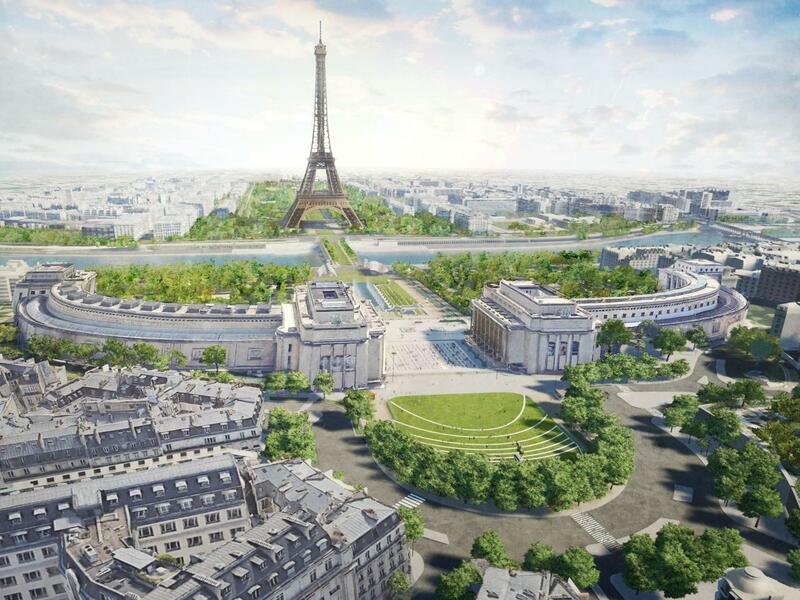 Bientôt un parc entre le Trocadéro et la tour Eiffel - Batiweb