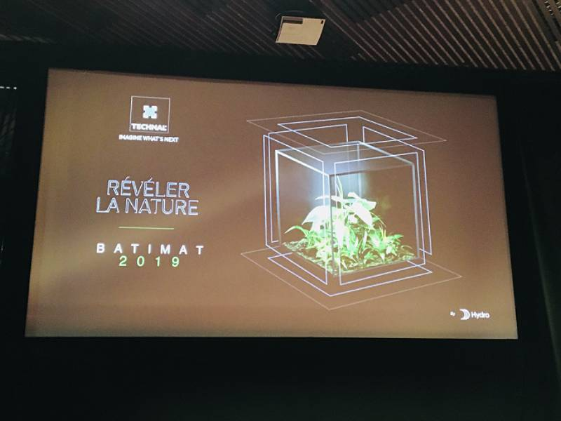 Batimat 2019 : le « Pavillon Boeri x Technal » sublime la nature