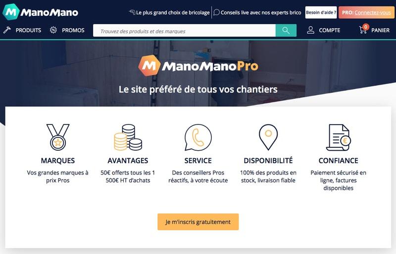 Les pros du bâtiment bien en main avec ManoMano ? - Batiweb