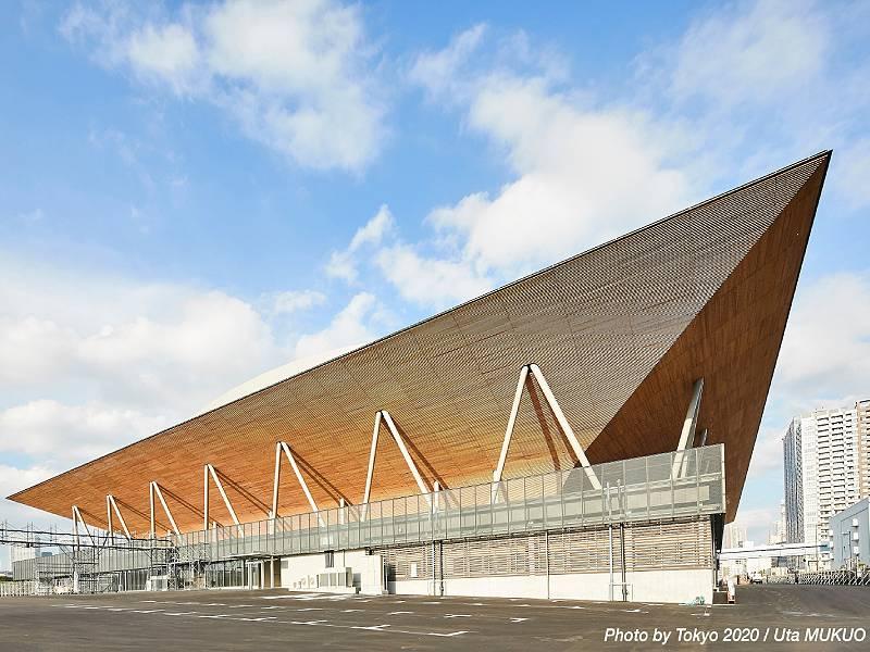 Tokyo 2020 : un site de gymnastique tout de bois vêtu