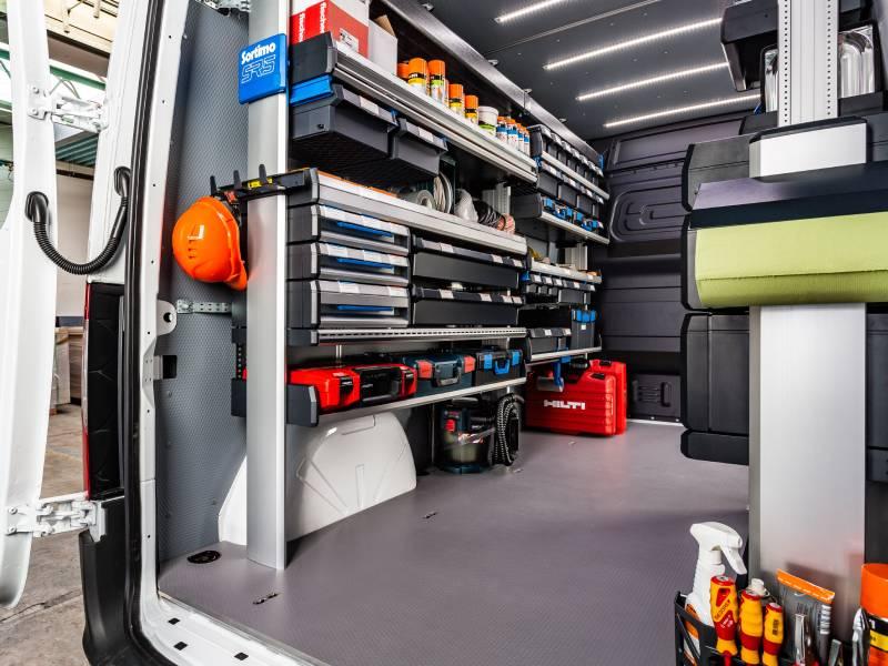 Véhicule utilitaire : Sortimo optimise l'espace de chargement avec des solutions sur-mesure