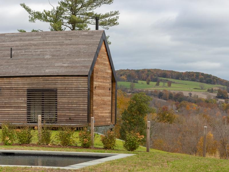 Une maison en bois Kebony façon ranch dans la vallée de l'Hudson River - Batiweb