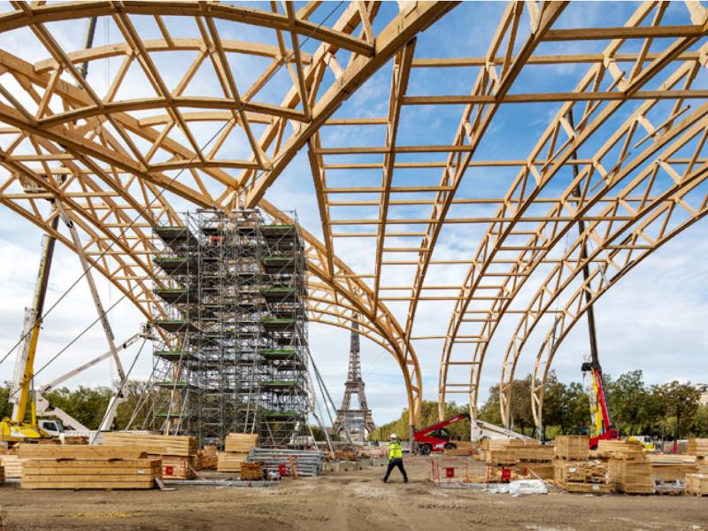 La construction du Grand Palais Ephémère a débuté - Batiweb