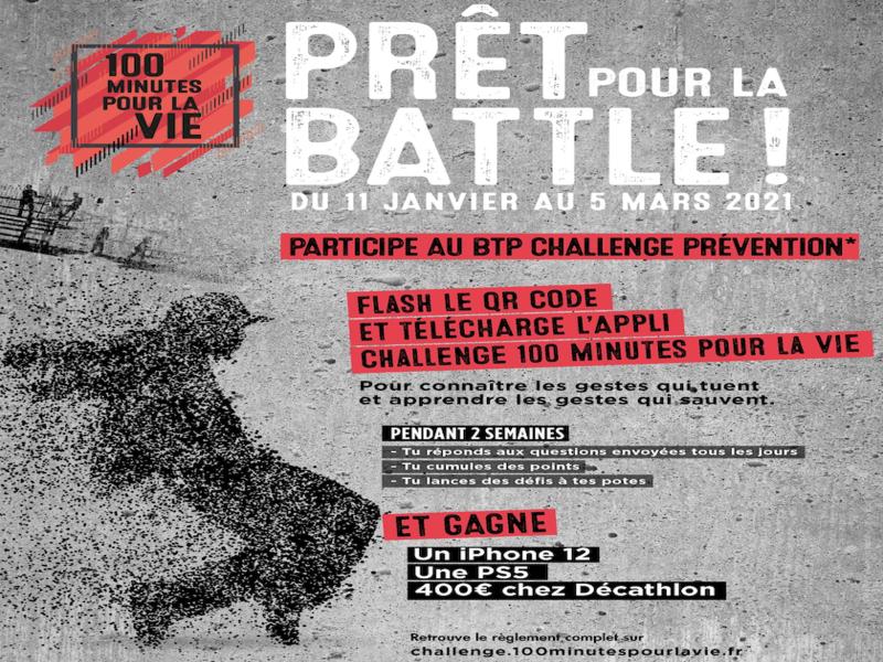 Le challenge «100 minutes pour la vie» est lancé! - Batiweb