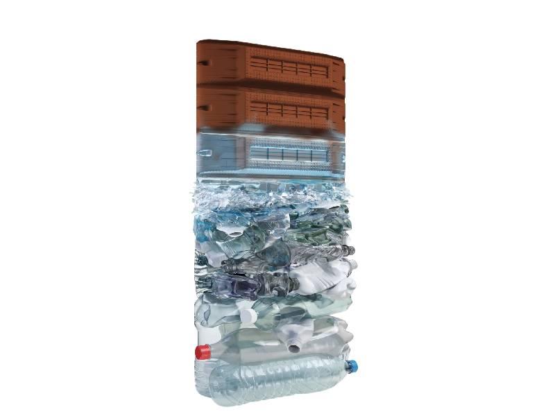 KP1 lance l'EMR, un entrevous conçu à 100% en matière recyclée - Batiweb