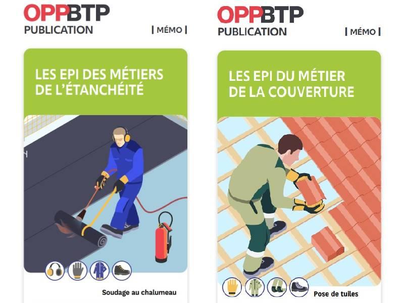 EPI : l'OPPBTP publie deux mémentos pour les étancheurs et les couvreurs - Batiweb