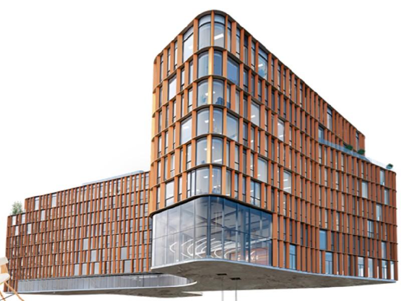 Le bâtiment Curve, une éco-construction au design novateur - Batiweb