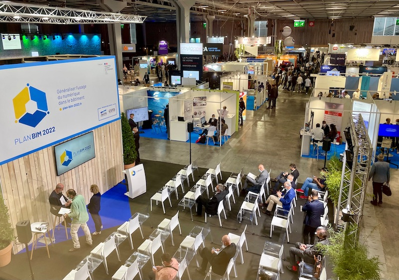 Salon BIM World 2021 Stand du plan BIM 2022
