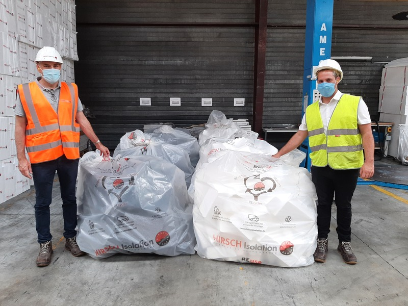 Hirsch Isolation et le RNRP récupèrent et revalorisent les déchets PSE avec REuse - Batiweb