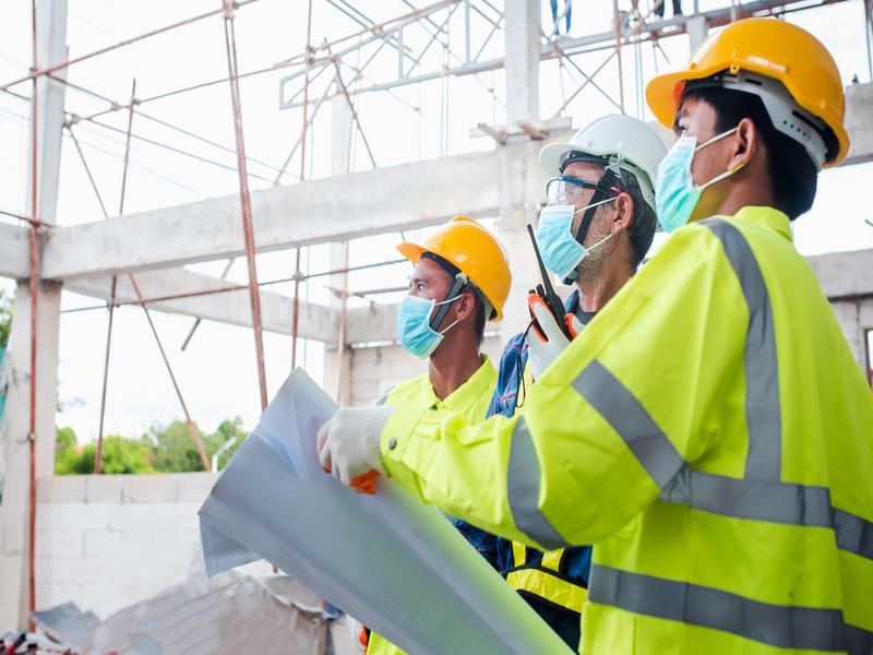 Covid-19 : La visière, aussi efficace que le masque sur les chantiers ? - Batiweb