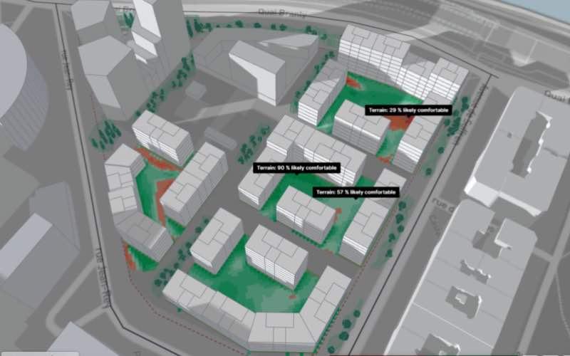 Freiner les îlots de chaleur urbains avec l'outil microclimate analysis - Batiweb