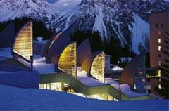 L'Hôtel Tschuggen Bergoase 5*(Suisse) habille son spa de voiles de zinc RHEINZINK® - Batiweb