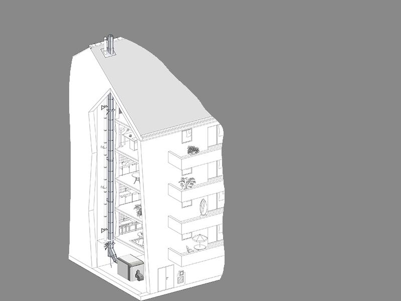 Conduit cheminée isolé polycombustible THERMINOX - Batiweb