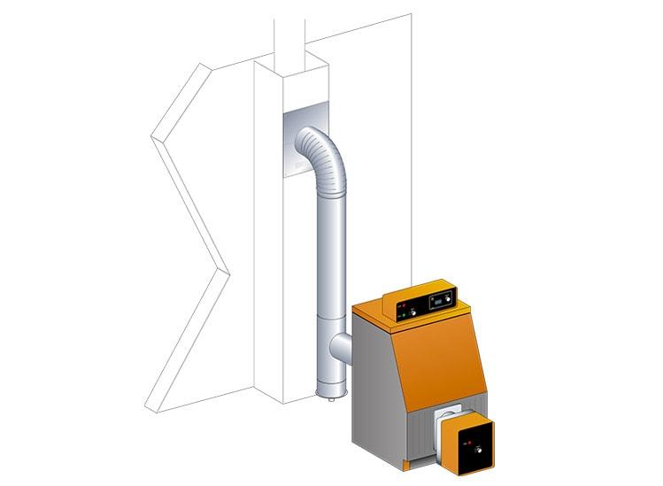 Fumisterie aluminié - raccordement chaudière gaz et fioul