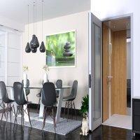 Ascenseur privatif modèle Chêne naturel Batiweb