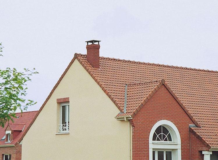 Sortie de toit TRADINOV finition briquettes