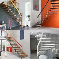 Escalier suspendu en bois Batiweb